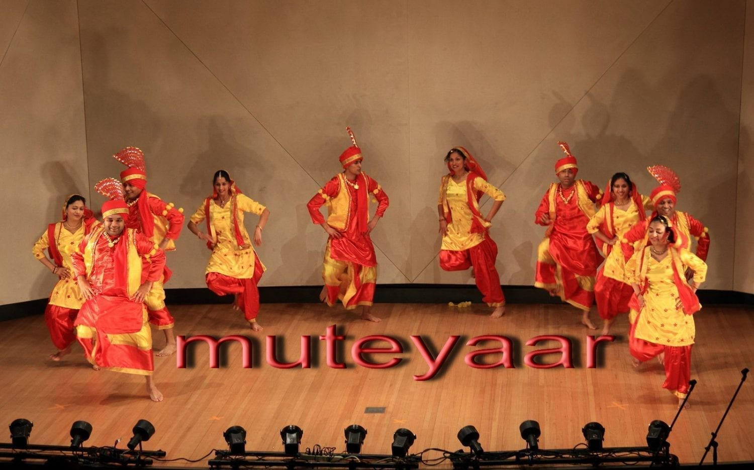 Red / Yellow Bhangra dance costume outfit dress - custom made 3
