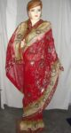HEAVY EMBROIDERED Party Wear Georgette Saree !!