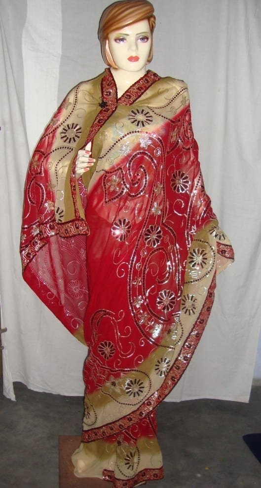 HEAVY EMBROIDERED Party Wear Georgette Saree !! 1