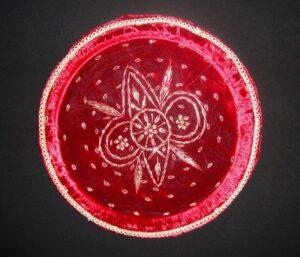 Handmade SHAGNAA DA THAAL embroidered plate