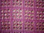 Pink Glazed cotton Jaal Phulkari Hand Embr Bed Cover set Z0039