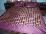 Glazed cotton Jaal Phulkari Hand Embroid Bed Cover set Z0041