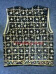 Jaal Embroidered BLACK vest for Bhangra dance costume  / outfit