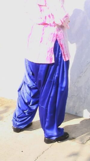 Blue Satin Patiala Salwar from patiala city