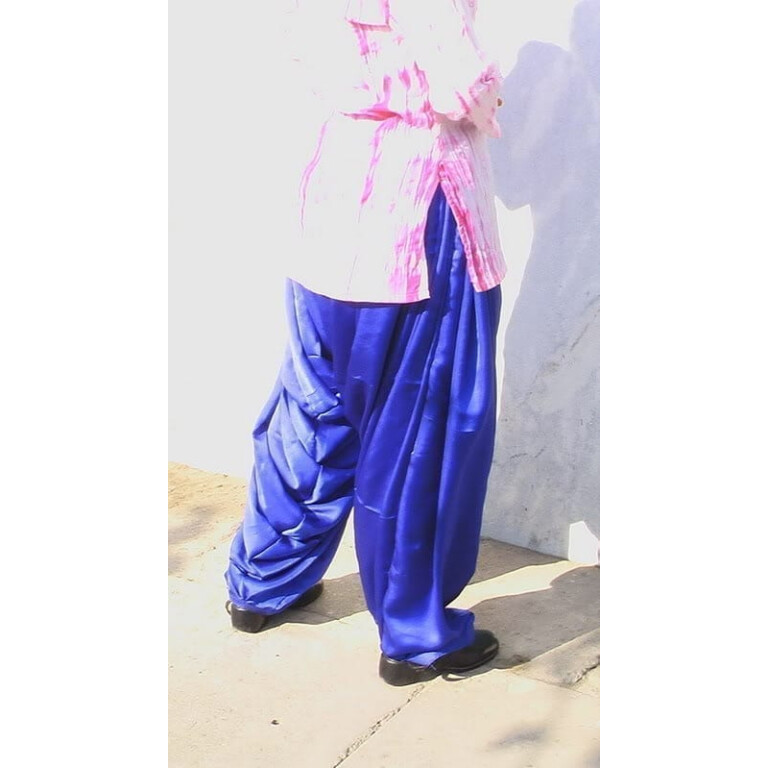 Blue Satin Patiala Salwar from patiala city