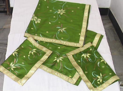 Green Hand Painted Rumala Sahib !! 1