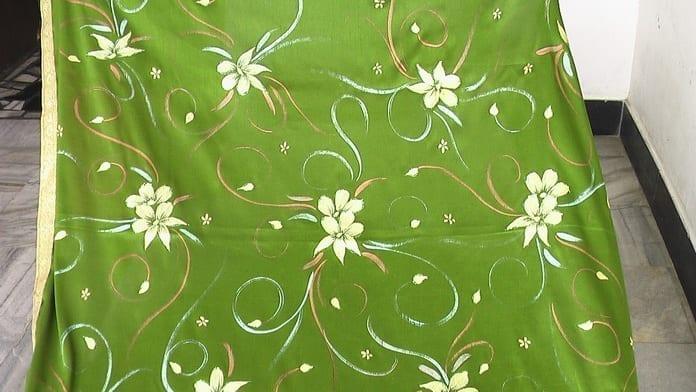Green Hand Painted Rumala Sahib !! 2