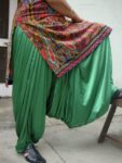 Custom Made Green Satin Silk Maharani Patiala Salwar – all colours,sizes available