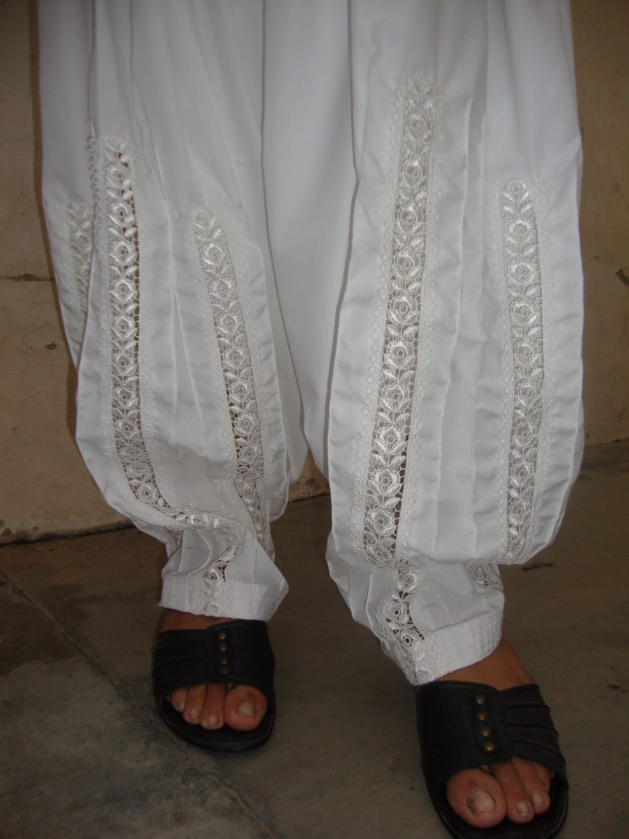 Long Lace Patiala Salwar - direct from Patiala City !! 2