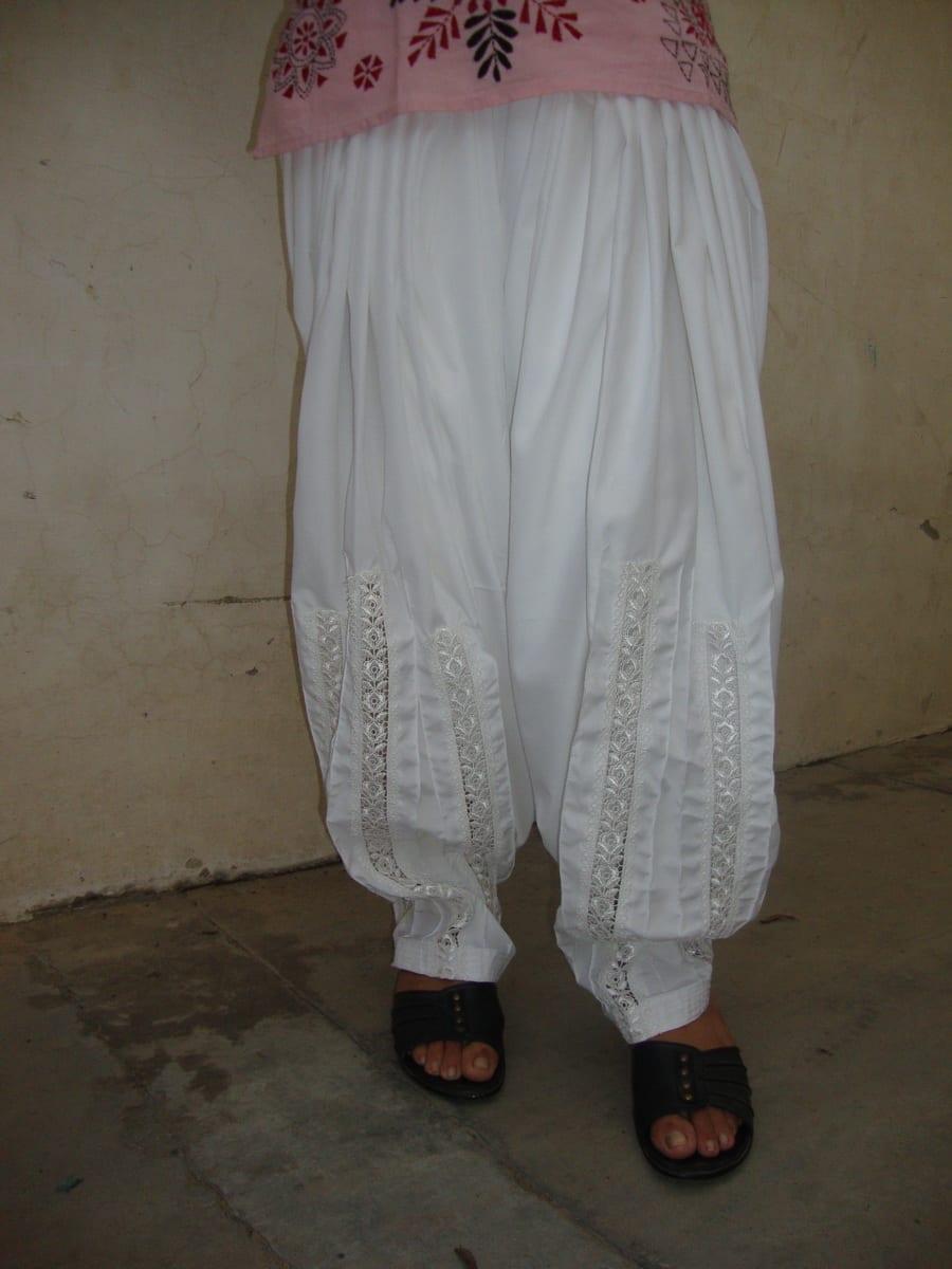 Long Lace Patiala Salwar - direct from Patiala City !! 3