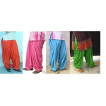 Lot of 25 crepe Patiala Salwars – Mix colours Mix sizes !!