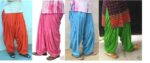 wholesale Lot of 25 Crepe Full Patiala Salwars Free-Size / Mix colours