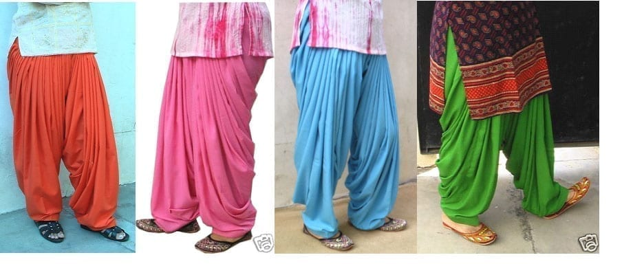Lot of 25 crepe Patiala Salwars - Mix colours Mix sizes !! 1