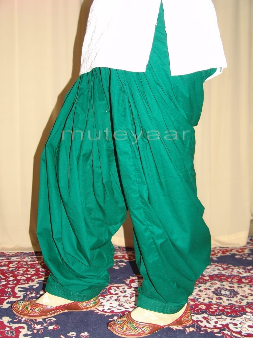 Lot of 25 PURE COTTON free-size Patiala Salwars - Mix colours !! 15