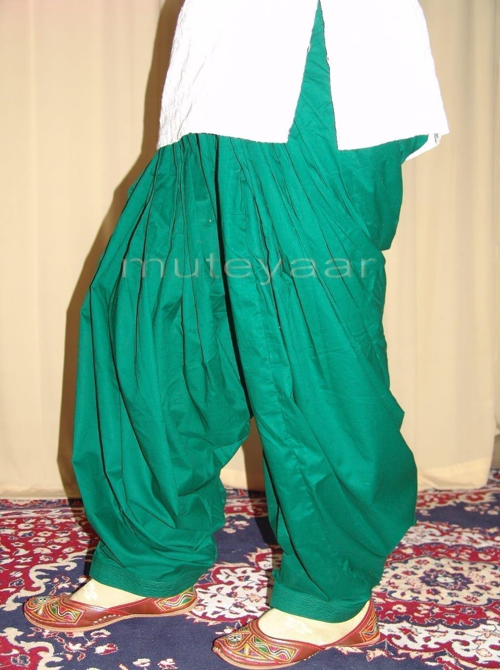 Patiala Salwars Wholesale Lot of 25 Pure Cotton Pants - Mix colours 15
