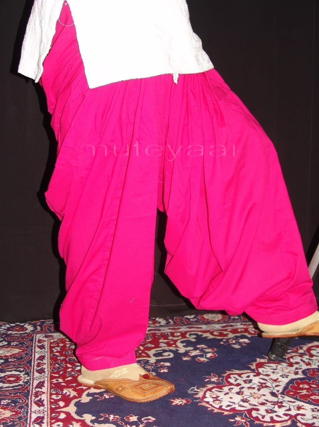 Lot of 25 PURE COTTON free-size Patiala Salwars - Mix colours !! 17