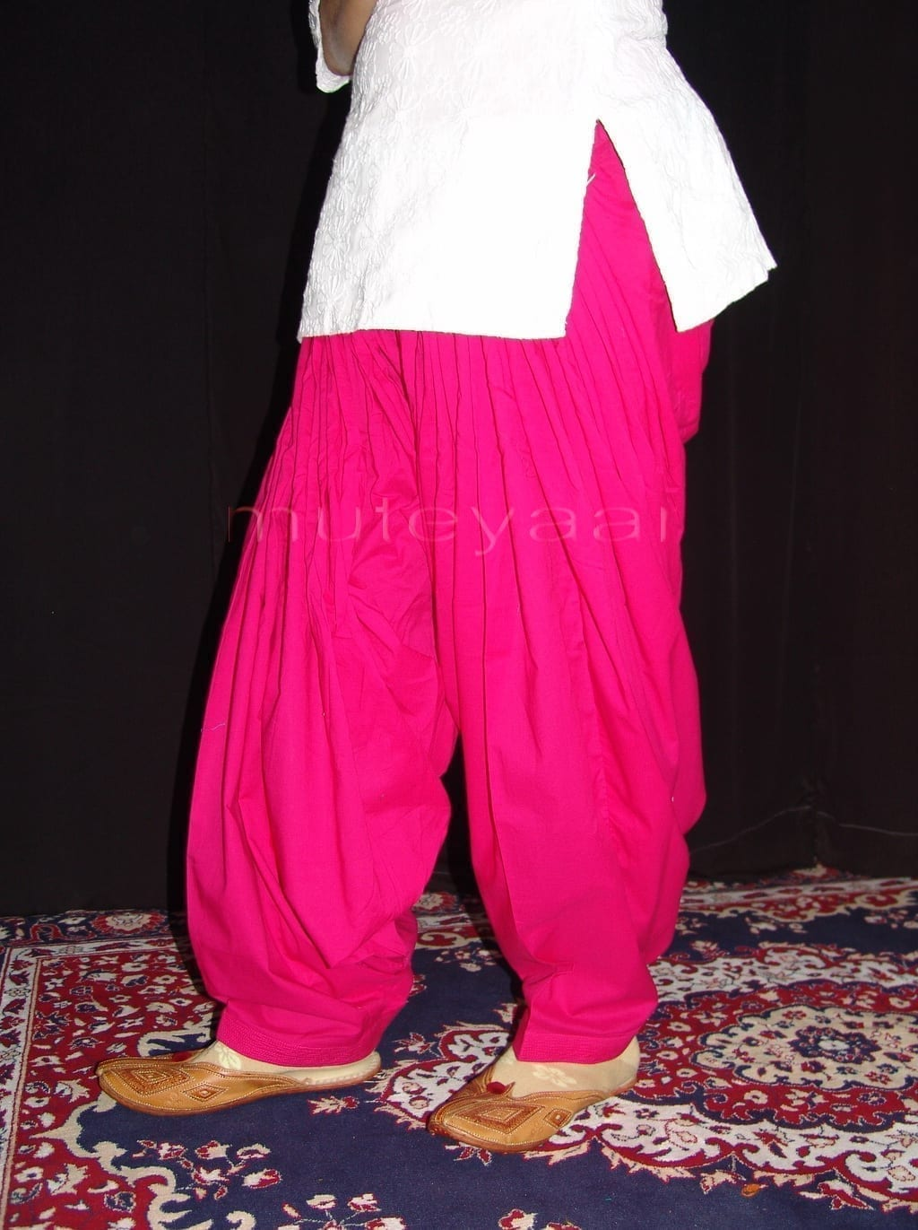 Lot of 25 PURE COTTON free-size Patiala Salwars - Mix colours !! 18