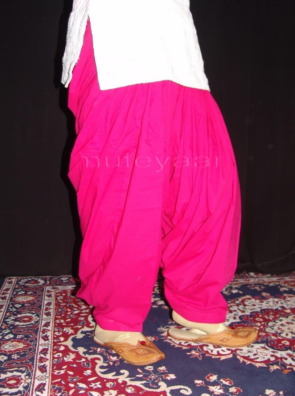 Patiala Salwars Wholesale Lot of 25 Pure Cotton Pants - Mix colours 19