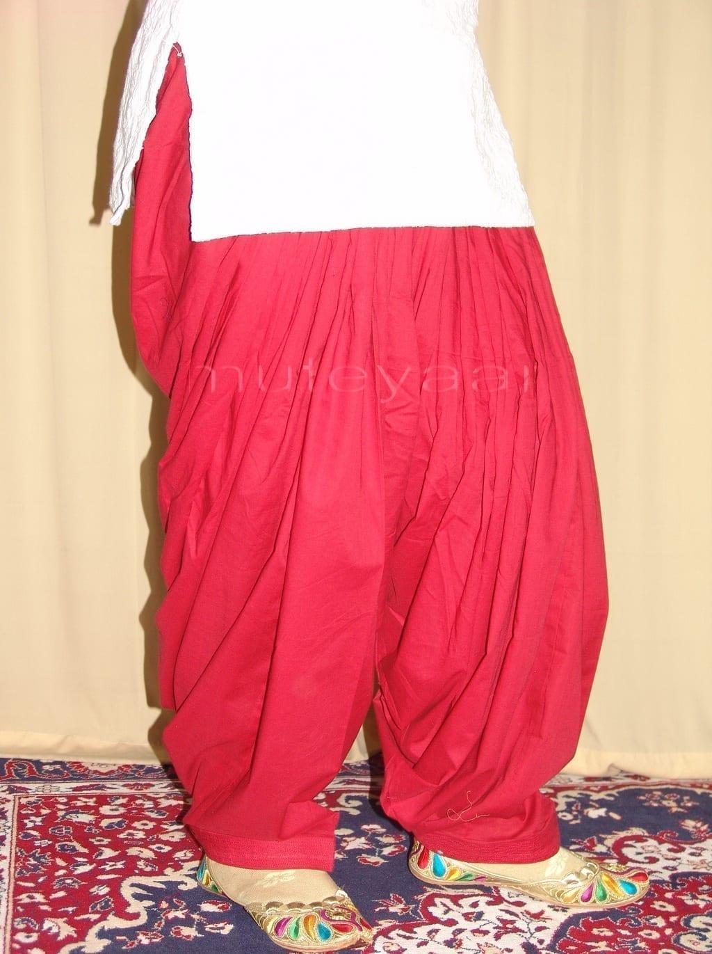 Patiala Salwars Wholesale Lot of 25 Pure Cotton Pants - Mix colours 22