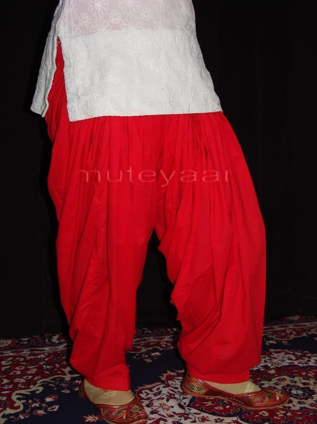 Patiala Salwars Wholesale Lot of 25 Pure Cotton Pants - Mix colours 25