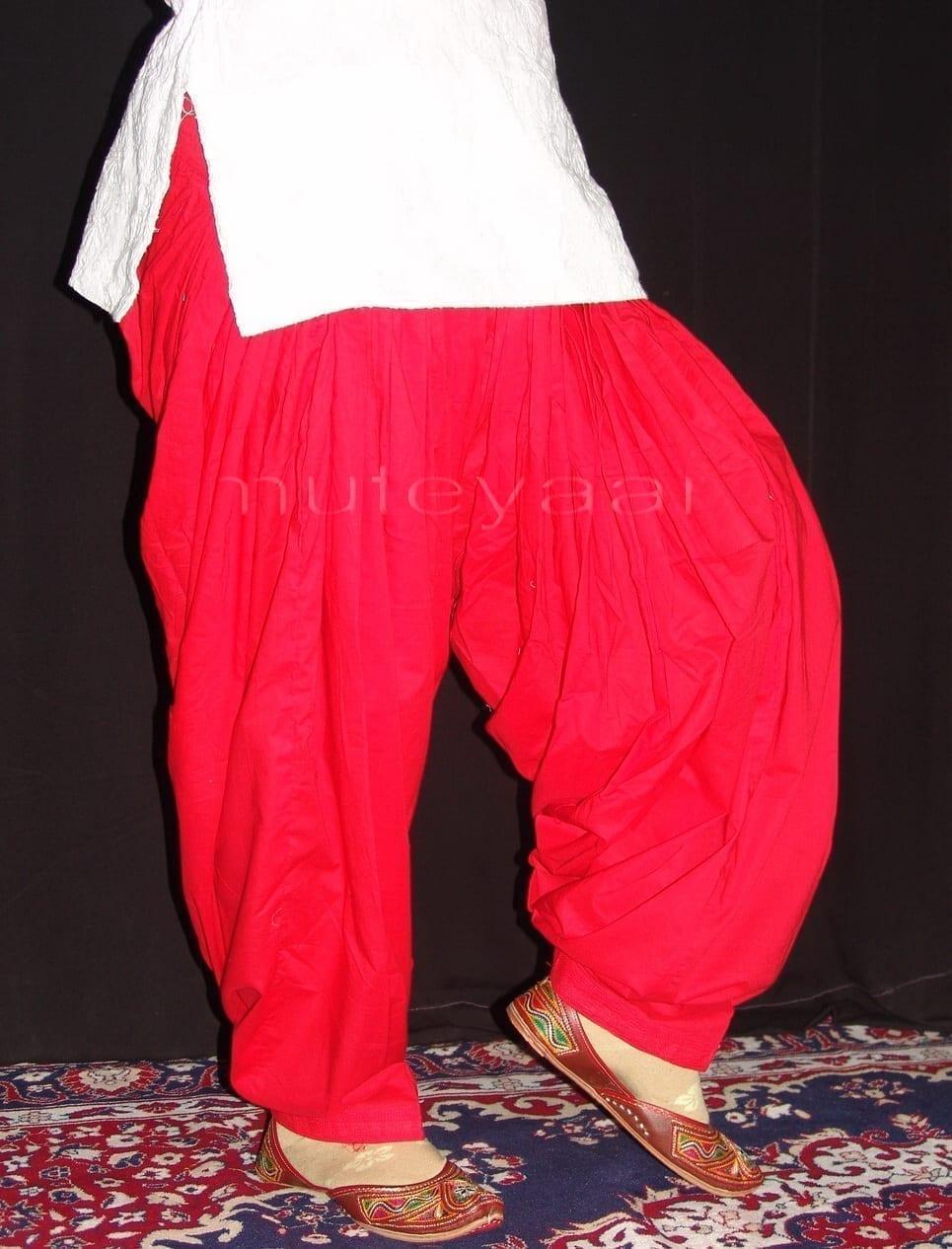 Patiala Salwars Wholesale Lot of 25 Pure Cotton Pants - Mix colours 26