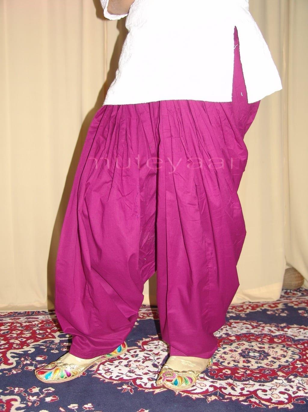 Patiala Salwars Wholesale Lot of 25 Pure Cotton Pants - Mix colours 28