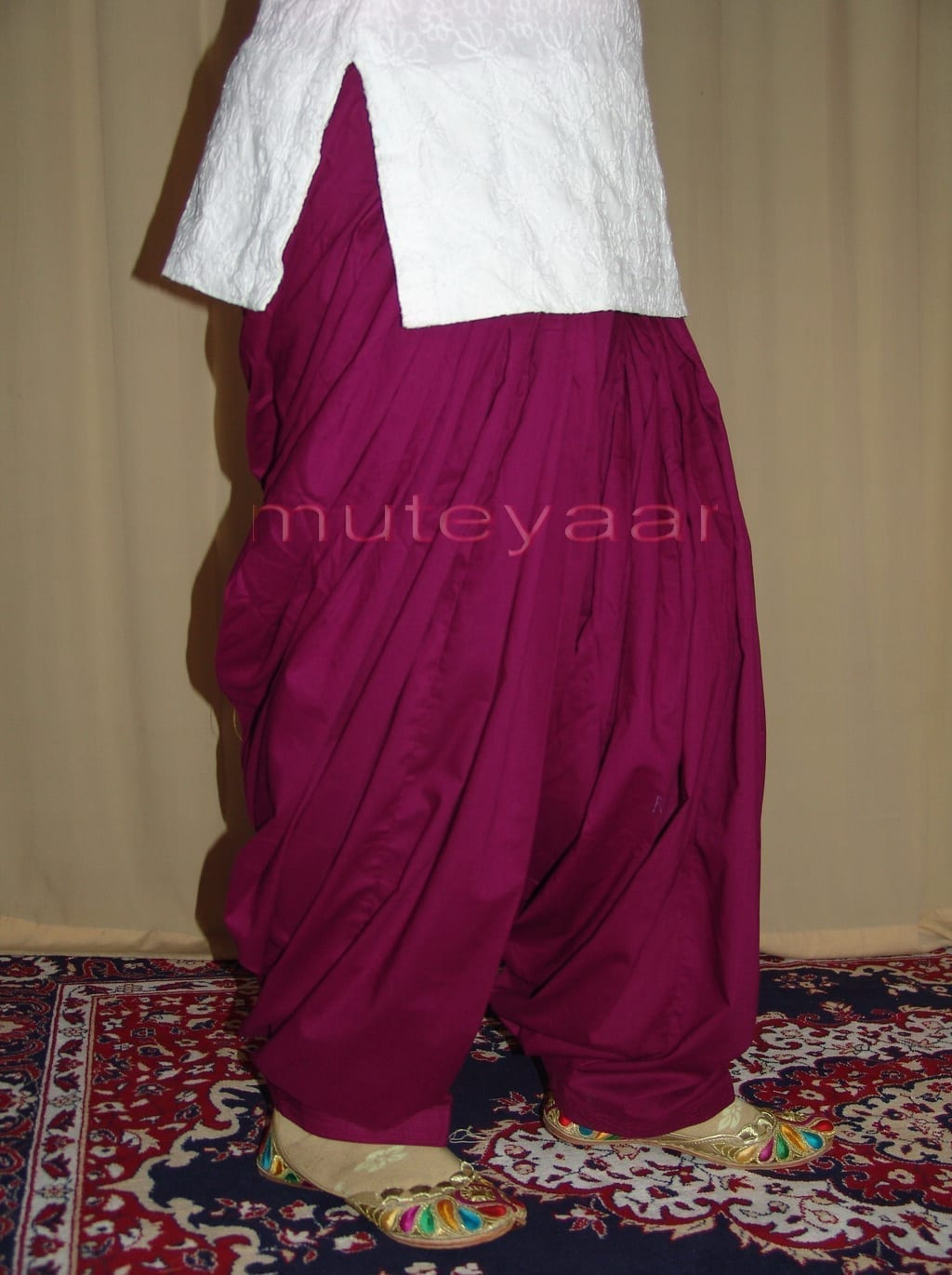 Lot of 25 PURE COTTON free-size Patiala Salwars - Mix colours !! 29