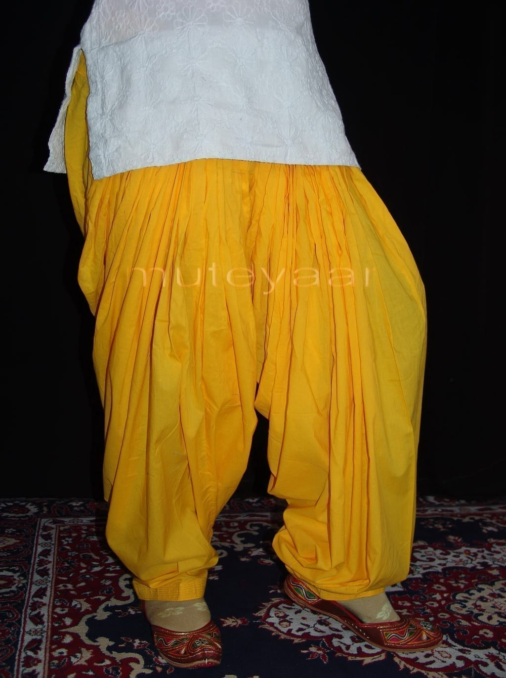 100% PURE COTTON YELLOW PATIALA PANTS from Patiala city !! 1