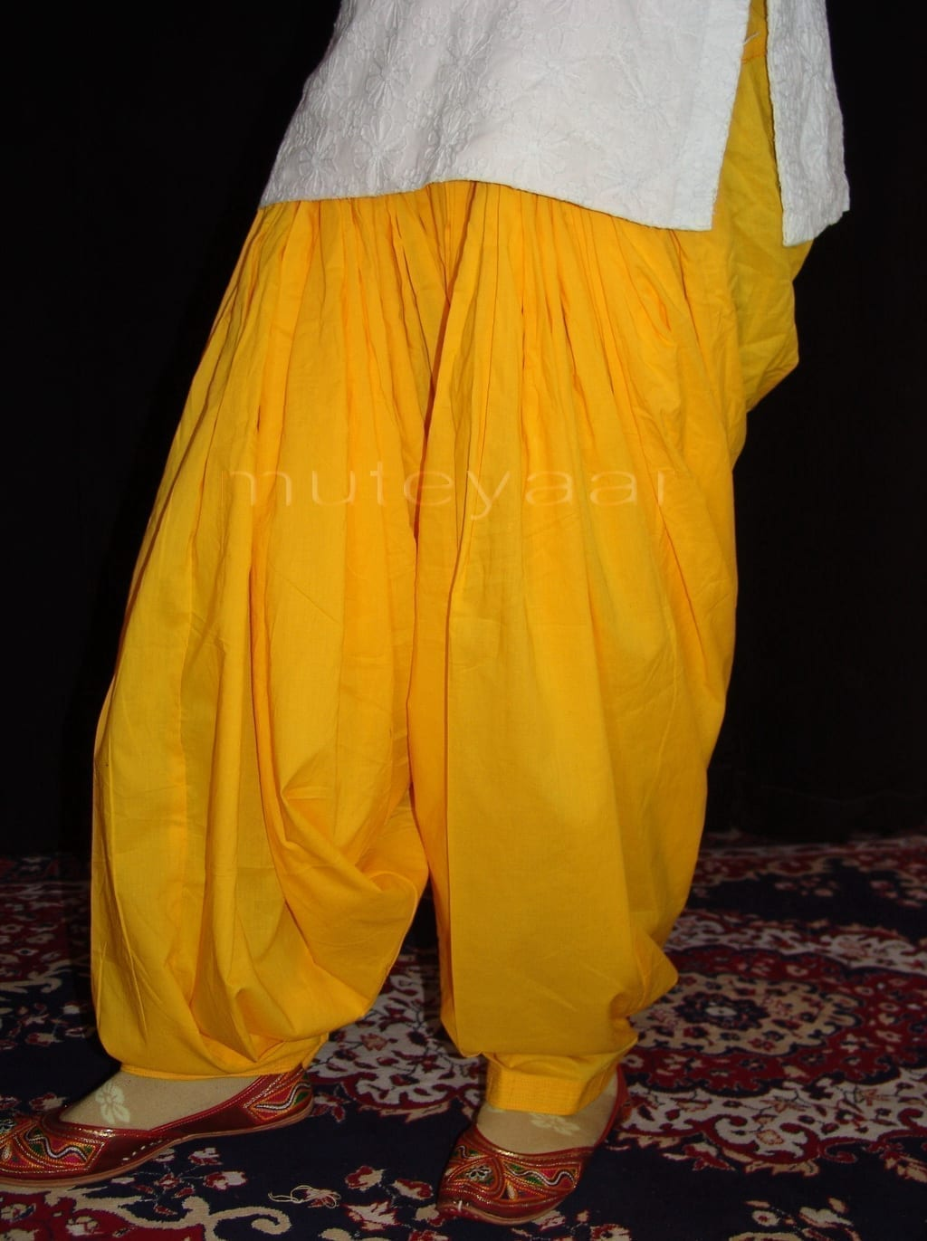 100% PURE COTTON YELLOW PATIALA PANTS from Patiala city !! 2