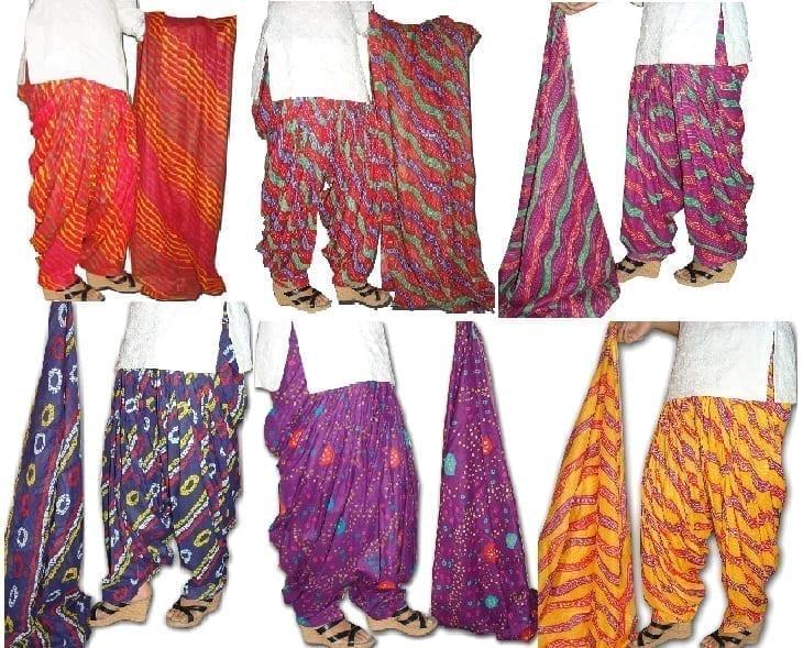 Wholesale Patiala Salwar Dupatta Lot of 25 Pure Cotton Printed Sets 1