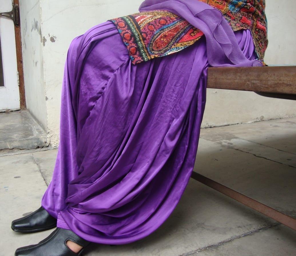 Maharani PURPLE Satin Silk Patiala Salwar 4