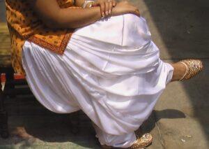 Super Heavy Satin Silk White Maharani Patiala Salwar – All colours available