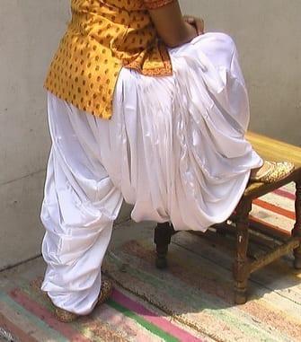 Super Heavy Satin Silk White Maharani Patiala Salwar - All colours available 2