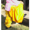 Yellow Satin Patiala Salwar