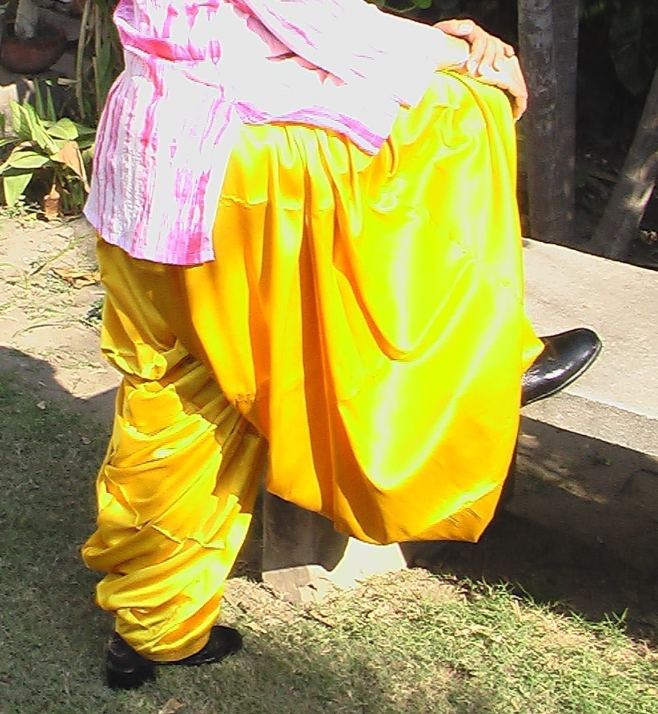 Yellow Satin Patiala Salwar 1