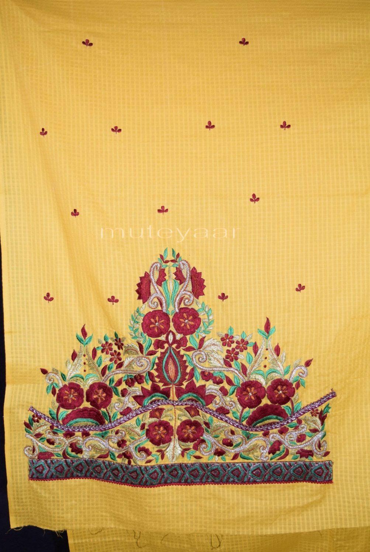 Designer Embroidery 100% cotton Salwar Suit PURE CHIFFON Dupatta RM288 2