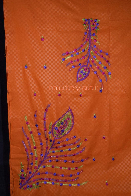 Designer Embroidery 100% cotton Salwar Suit PURE CHIFFON Dupatta RM292 3