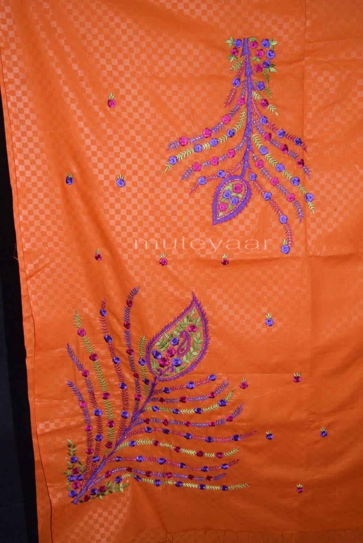 Designer Embroidery 100% cotton Salwar Suit PURE CHIFFON Dupatta RM292 4