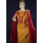 Designer Embroidery 100% cotton Salwar Suit PURE CHIFFON Dupatta RM295