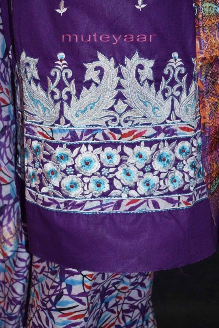 Pure Cotton FULL Patiala Salwar embr  Suit Cotton Dupatta RM299 2