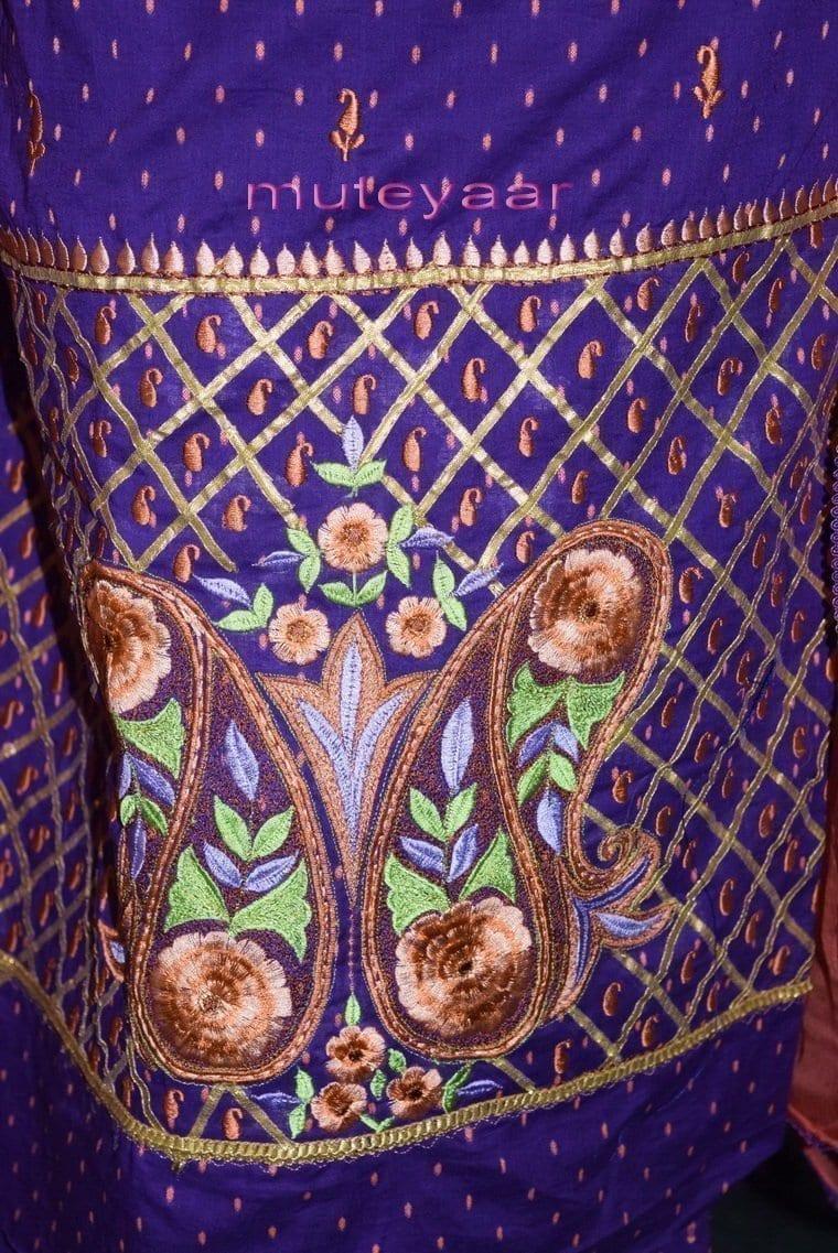 Designer Embroidery 100% cotton Salwar Suit PURE CHIFFON Dupatta RM302 2