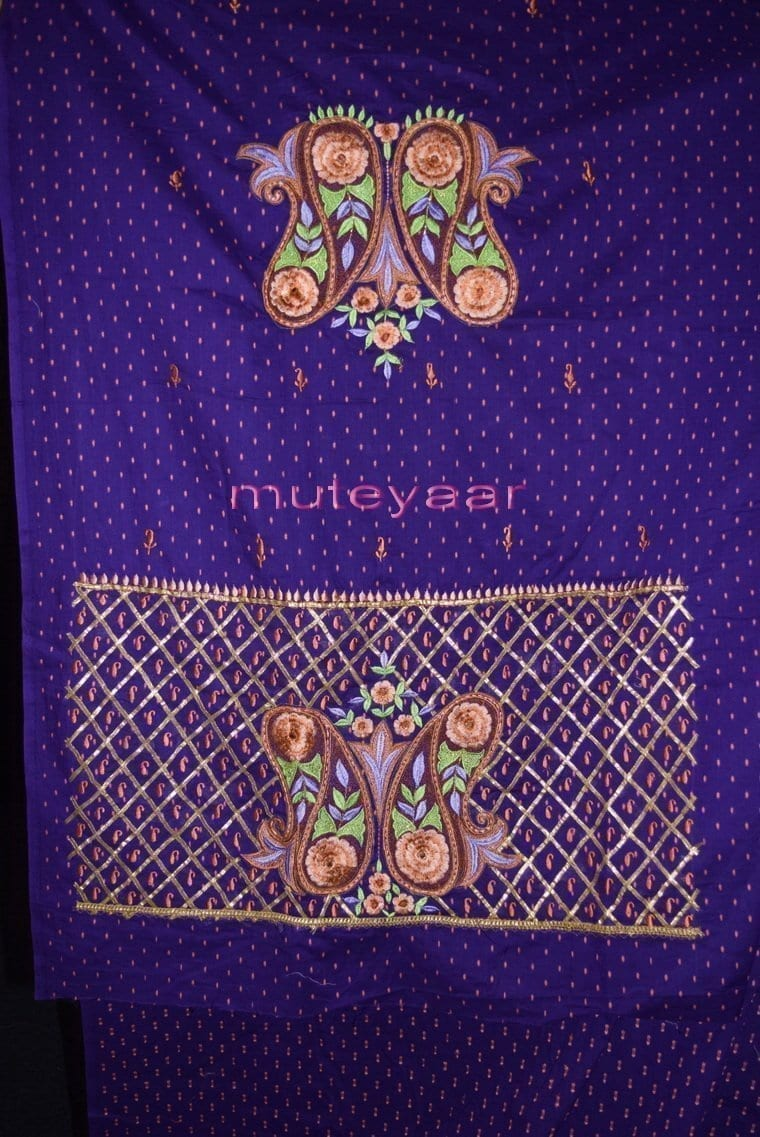 Designer Embroidery 100% cotton Salwar Suit PURE CHIFFON Dupatta RM302 3