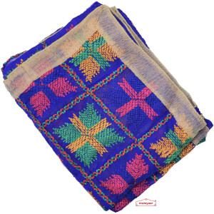 Blue Phulkari Dupatta D0837 Faux Chiffon Chunni