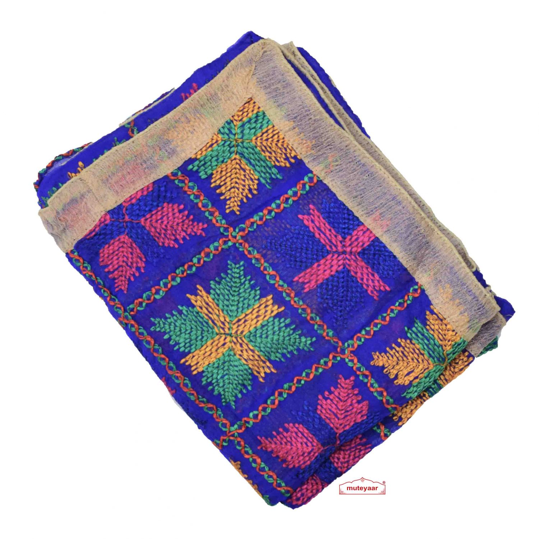 Blue Phulkari Dupatta D0837 Faux Chiffon Chunni 1