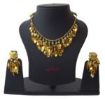 Punjabi Necklace Earrings Set Gold Plated Jewellery J0207