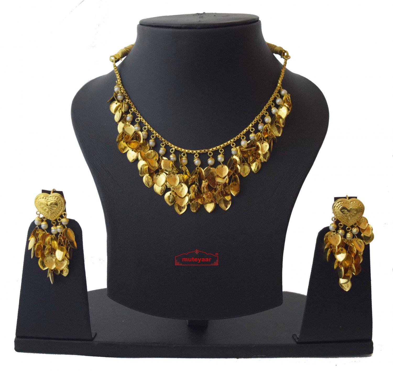 Punjabi Necklace Earrings Set Gold Plated Jewellery J0207 1