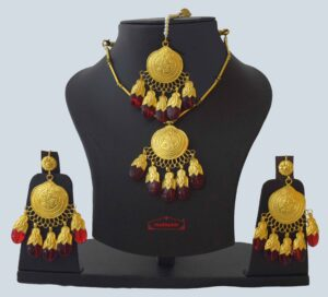 Original Gold Plated Dakh Jewellery Set J0210