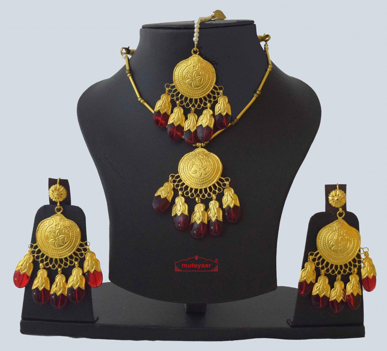 Original Gold Plated Dakh Jewellery Set J0210 1