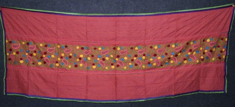 Designer Cotton Jali Hand Embroidered Partywear Dupatta D0762 3
