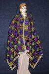 PUNJABI PHULKARI JAAL M/C Embroidered Partywear Faux Chiffon Dupatta D0823